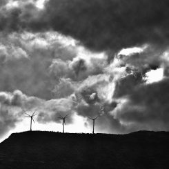 Clouds and Windmills-Canvas-Front